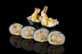 Roll with tempura shrimp and spicy sauce (6 pcs)