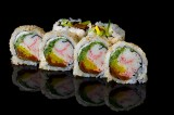 Crabstick and vegetables uramaki roll (6 pcs)