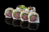 Tuna and vegetables uramaki roll (6 pcs)