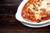 5. Gnocchi with tomato sauce with mascarpone cheese, chicken and dried tomatoes, 'au gratin' with mozzarella cheese