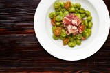 Wednesday - GNOCCHI CON PESTO E PROSCIUTTO DI PARMA  Italian-style potato dough dumplings with basil pesto, cherry tomatoes and Parma ham