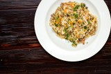 4. RISOTTO CON CARNE – with beef, bacon, carrot, mushrooms and green parsley