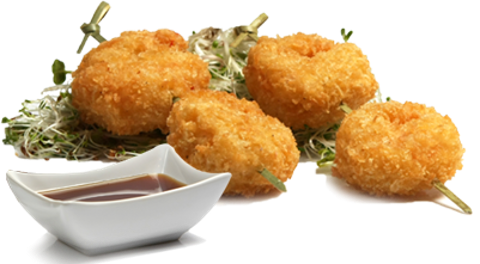 shrimps with fried panko 2 pcs