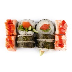 Set Hot Salmon & Maki 10szt