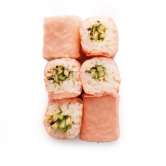 Colorful maki with cucumber 6 pcs