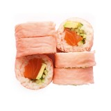 Nikkomaki - colorful futomaki with salmon and avocado 6 pcs