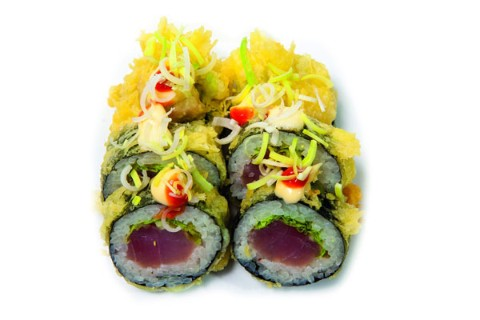 Tuna rolls in tempura batter