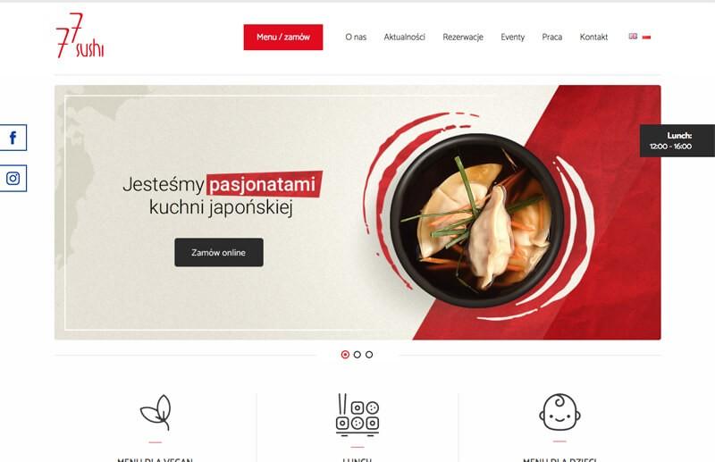 Zestawienie witryn internetowych stworzonych przez UpMenu