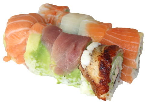 rainbow roll 6 pcs