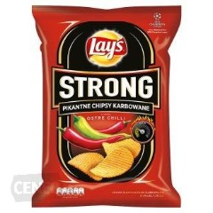 Lay's a strong spicy Megapak chili plus two sauces